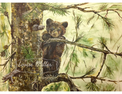Boo Boo Bear, original oil painting
