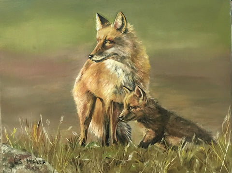 Red Foxes, Oils