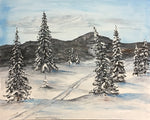 X-Country Ski, Original Acrylic