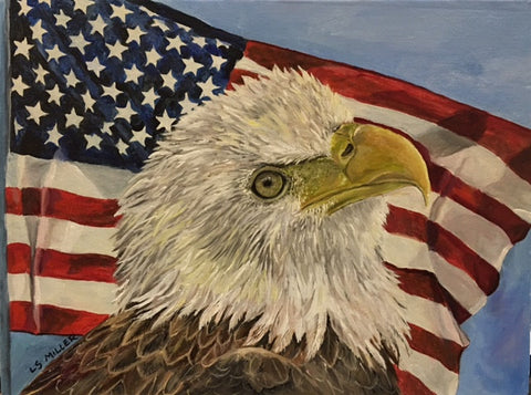 Patriotic Eagle,original oil