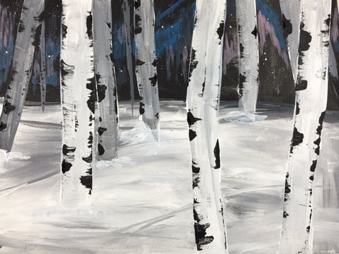 Winter Birch Trees pARTy