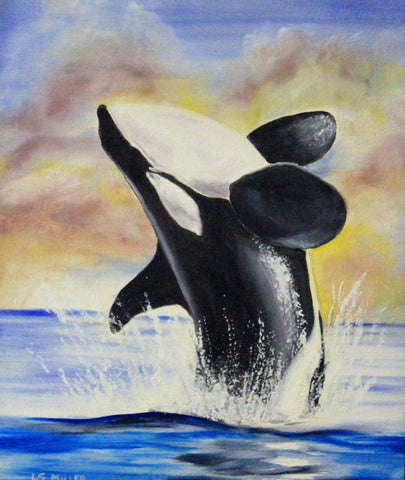 Orca   original oil painting