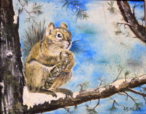 Nuts to You   original oil painting