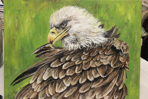 Eagle Feathers, original oil painting