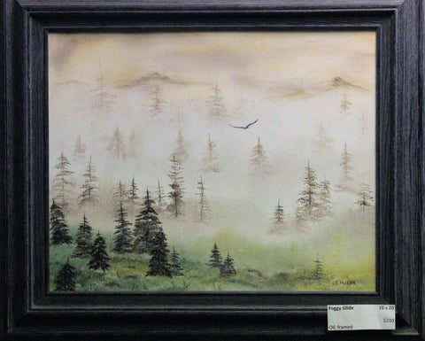Foggy Glide   original oil painting