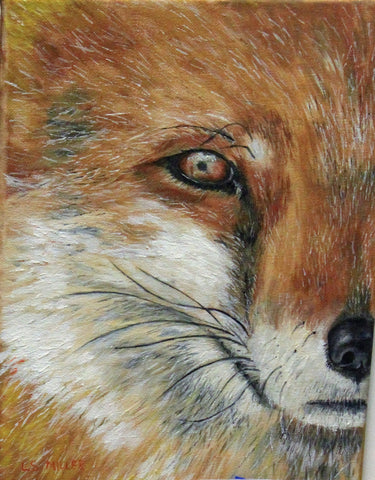 What does the fox say   original oil painting