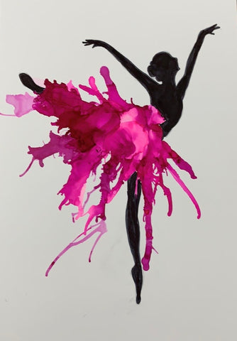 Ballerina 1, alcohol inks