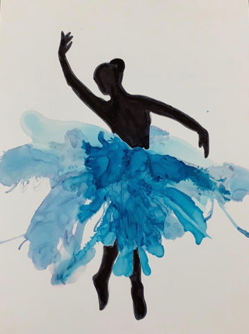 Ballerina 2, alcohol inks