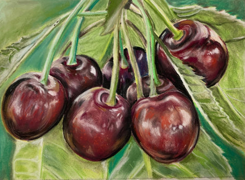 Sweet Cherries, Original Pastel