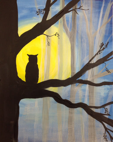 Owl in a tree pARTy 9/29: 6-8pm