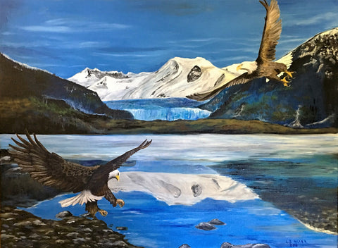 Mendenhall Eagles, original oil