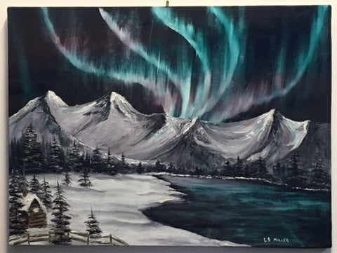 Northern Lights, original oil SOLD