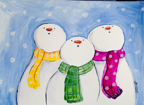 Snowmen Trio big/little pARTy