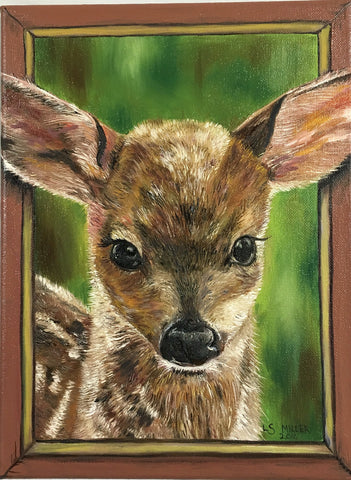 Fawn oil on canvas