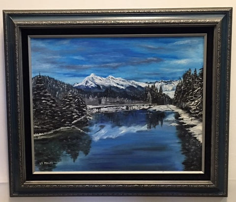 Mighty Mendenhall, original oil