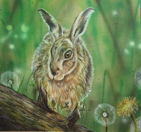 Hop-a-long original Pastels mixed media SOLD