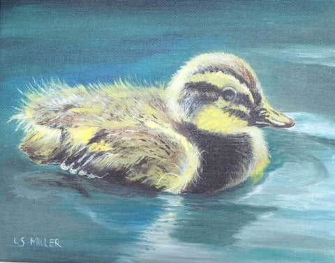 Hugly Duckling, gyclee print on canvas 8x10
