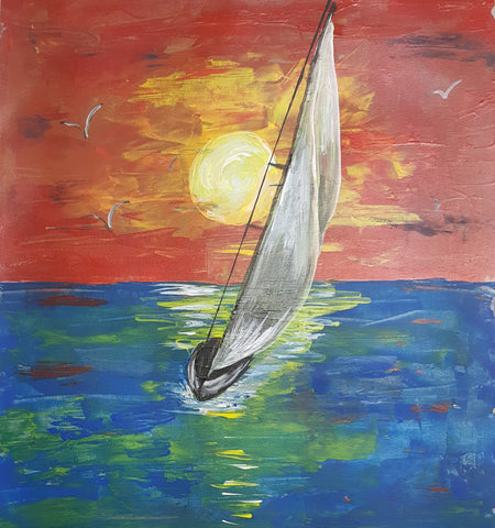 Palette Knife Sailboat pARTy