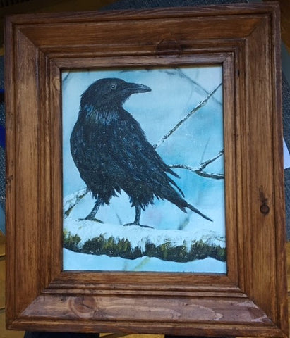* Raven, giclee print, framed (on display at Salon 907)