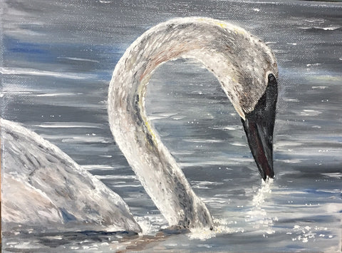 Swan Lake, Original Oil