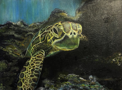 Sea Turtle, original oil SOLD