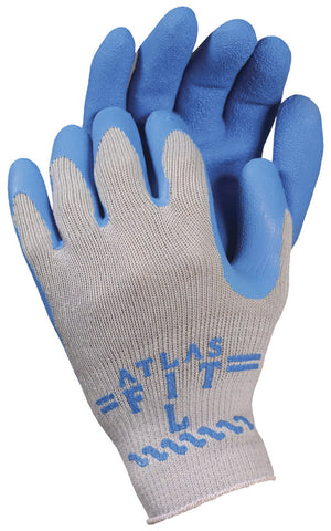 ATLAS FIT Poly Cotton Knit Liner Latex Rubber Palm Glove