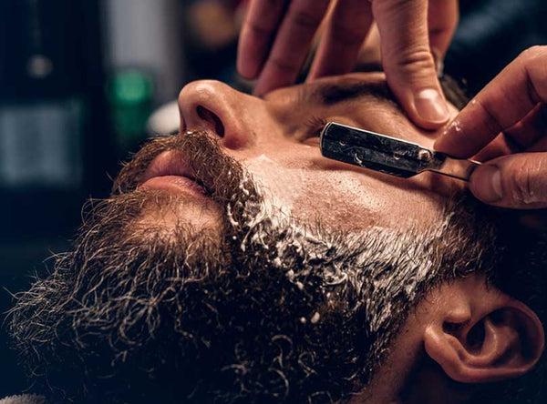 Shaving with Straight Razors for Beard Shaping