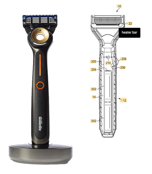 Gillette Heated Razor Patent Filing Image