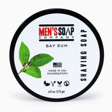 Shaving Soap in Bowl with Lid, 4.0 oz - Bay Rum