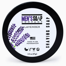 Travel Size Shaving Soap in Bowl with Lid, 2.0 oz - Lavender