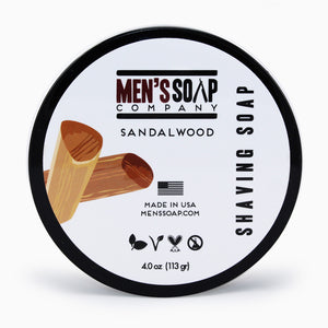 Shaving Soap in Bowl with Lid, 4.0 oz - Sandalwood