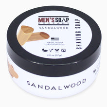 Travel Size Shaving Soap in Bowl with Lid, 2.0 oz - Sandalwood