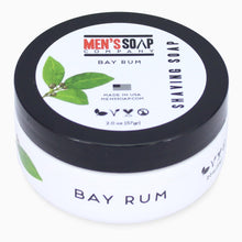 Travel Size Shaving Soap in Bowl with Lid, 2.0 oz - Bay Rum