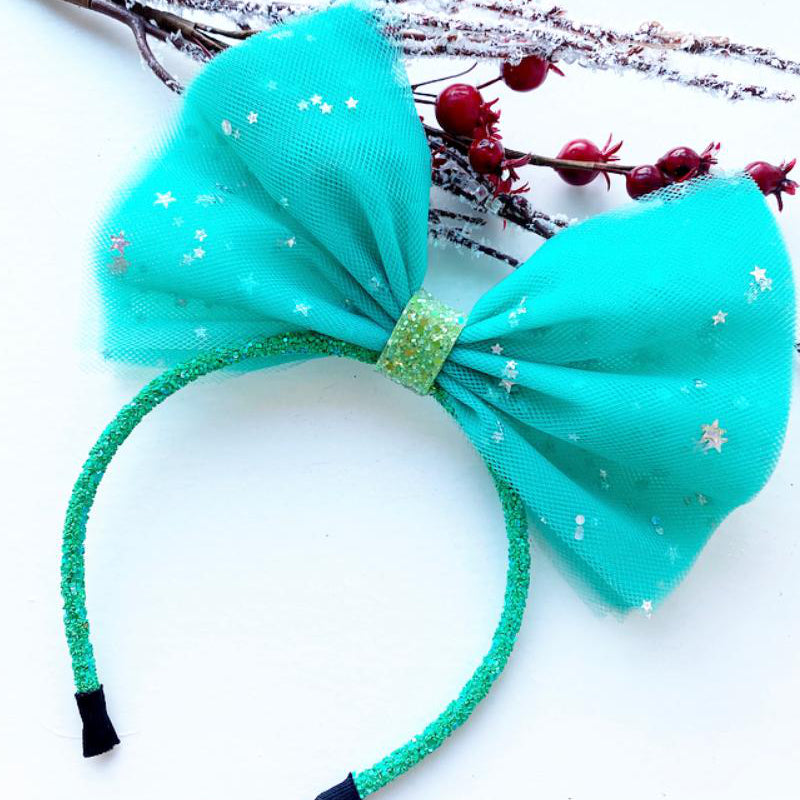 A Green Sparkle Pominnie Headband
