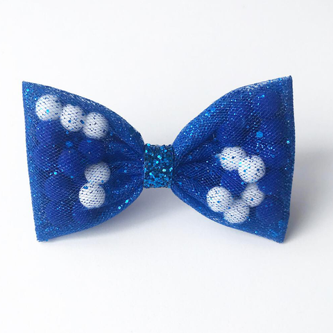 Blue Back To School Pominnie Bow