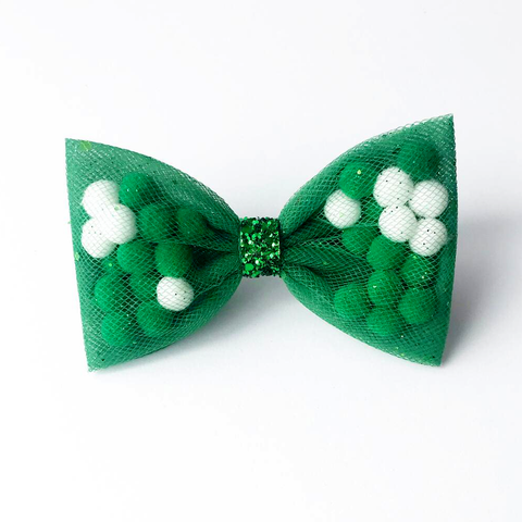Green Back To School Pominnie Bow