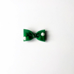 Mini Green Back To School Pominnie Bow