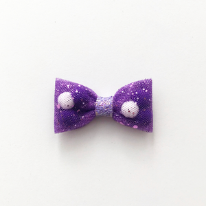 Mini Purple Back To School Pominnie Bow