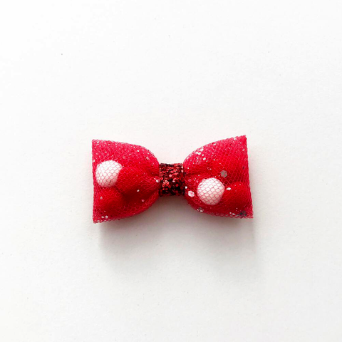Mini Red Back To School Pominnie Bow