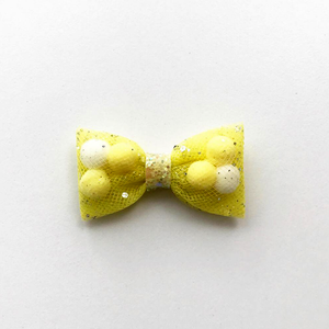 Mini Yellow Back To School Pominnie Bow