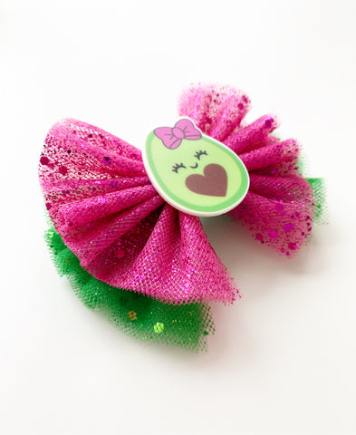Avocado Tulle Bow