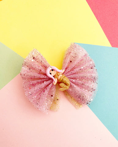 Mermaid tulle Bow