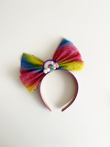 Bright rainbow headband