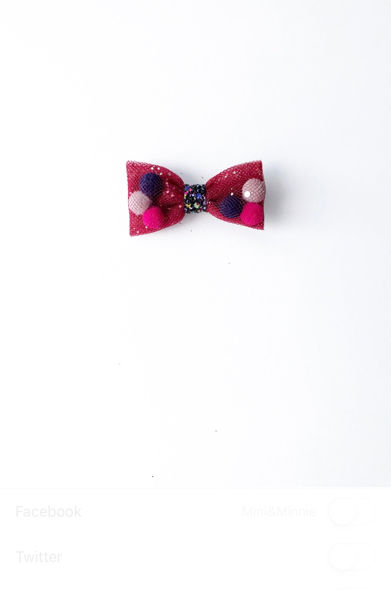 Burgundy Mini Pominnie bow