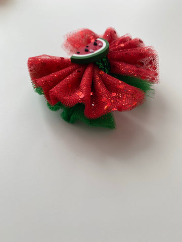 Watermelon Tulle Bow