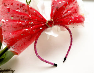 Diamond heart headband
