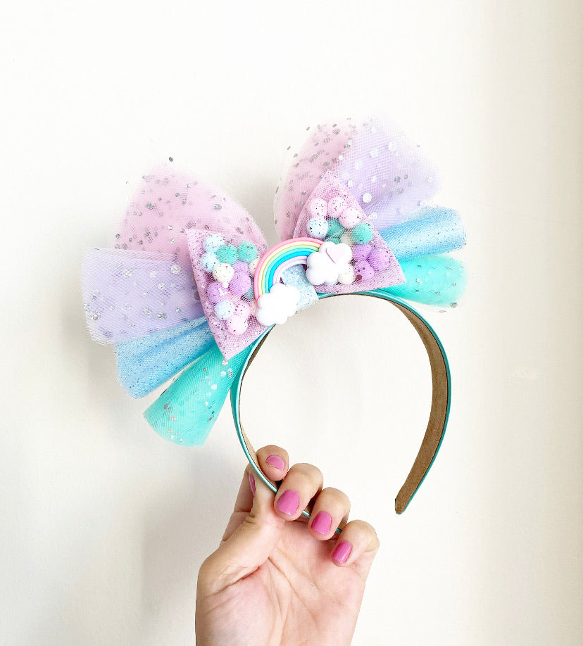 Pastel Rainbow Headband Pominnie
