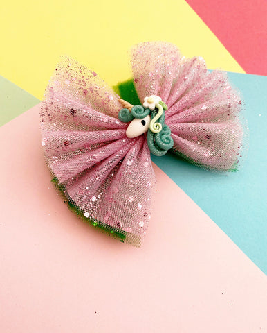 Unicorn tulle Pominnie bow