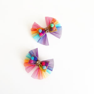 Mini Rainbow angel wing
