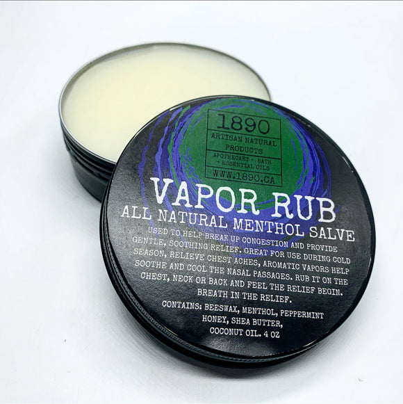 Vapor Rub - All Natural Menthol Salve.
